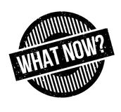 What Now rubber stamp Royalty Free Stock Images