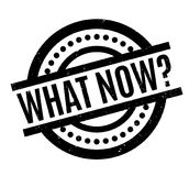 What Now rubber stamp Royalty Free Stock Photo