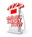 What is Our Energy Policy Question Fuel Gas Pump Royalty Free Stock Images