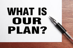 What is our plan Royalty Free Stock Photography