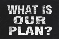 What is our plan Stock Image