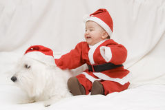 What a pair of  Santas. Stock Images