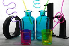 What a party!. What shall we drink? It will be the surprise of our cool party Royalty Free Stock Images