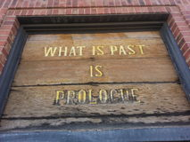What is past is prolog  Royalty Free Stock Photo
