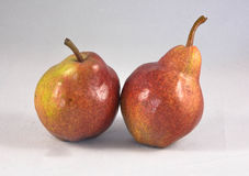 What a pear. Two  pears on white back ground Royalty Free Stock Photo