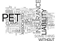 What Is Pet Liability Insurance Word Cloud Royalty Free Stock Image