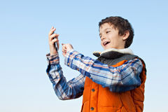 What is this on the phone? Royalty Free Stock Photos