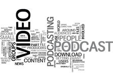 What Is Podcast Video Word Cloud. WHAT IS PODCAST VIDEO TEXT WORD CLOUD CONCEPT stock illustration
