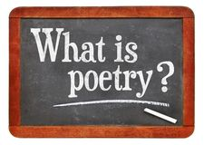 What is poetry? A question on blackboard. Stock Image