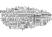 What Power Wheelchair Perfectly Suits You Word Cloud Stock Photo