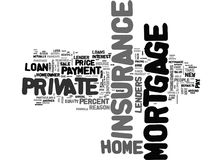 What Is Private Mortgage Insurance Word Cloud Royalty Free Stock Photos