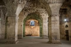 What remains of the palace of Diocletian, Roman emperor.  Royalty Free Stock Photos