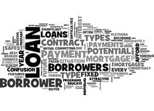 What Are The Riskiest Types Of Mortgages Loans Availableword Cloud Royalty Free Stock Photography