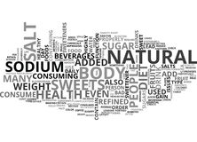 What Role Does Sugar And Salt Portray In A Healthy Diet Word Cloud Royalty Free Stock Photography