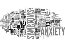 What S Anxiety And How Do I Recognize The Symptoms Word Cloud. WHAT S ANXIETY AND HOW DO I RECOGNIZE THE SYMPTOMS TEXT WORD CLOUD CONCEPT Stock Photos