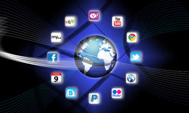 What's apps are on your mobile network today? Stock Photography
