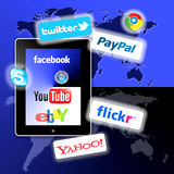 What's apps are on your Social Network Stock Image