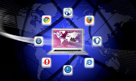 What S Browsers Are On Your Network Today Royalty Free Stock Photo