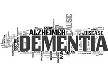What S The Difference Between Alzheimer S And Dementia Word Cloud Stock Photography