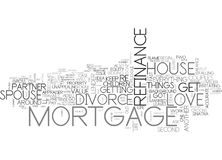 What S A Divorce Got To Do With Your Mortgage Refinance Word Cloud Royalty Free Stock Photo