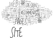 What S The Fastest Way To Ruin A New Web Siteword Cloud Royalty Free Stock Image