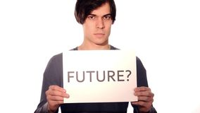 What's the future for the young generation? stock video