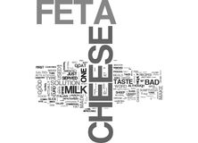 What S So Great About Feta Cheese Word Cloud Stock Photography