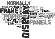 What S So Great About Popup Displays Word Cloud Stock Photo