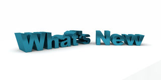 What's New. 3d text saying What's New isolated on a white background Stock Photo