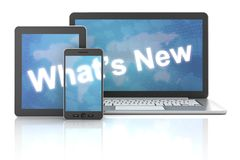What's new on laptop,digital tablet and smartphone Royalty Free Stock Image