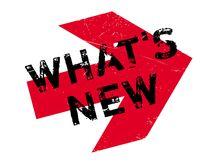What s New rubber stamp Stock Photo