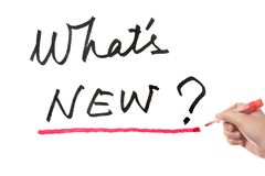 What's new words Stock Photos