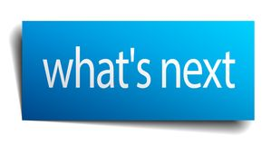 Free What`s Next Blue Sign Isolated On White Stock Image - 122507721