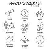 What`s Next Icon Set with Big Idea, Mentoring, Decision Making, Stock Photo