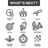 What`s Next Icon Set royalty free illustration