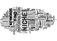 What S A Niche And How Do You Find One Word Cloud Royalty Free Stock Photo