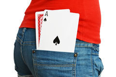 What's the other card Royalty Free Stock Photo