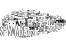 What S The Snag Behind The Spywareword Cloud Stock Images