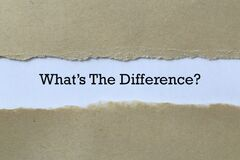 Free What`s The Difference On Paper Royalty Free Stock Photos - 206666438