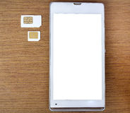 What's type of sim card can use on your mobile Stock Photos