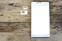 What's type of sim card can use on your mobile, smart phone royalty free stock photography