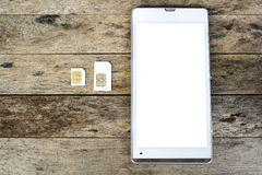 What's type of sim card can use on your mobile Royalty Free Stock Photo