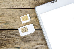 What's type of sim card can use on your mobile Royalty Free Stock Images
