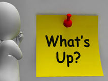 What's Up Note Means What Is Going On Stock Photo