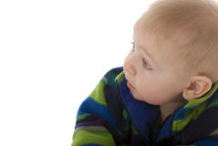 What's up - teething infant  away from camera Stock Photography