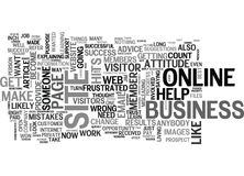 What S Your Business Online Attitudeword Cloud Stock Image