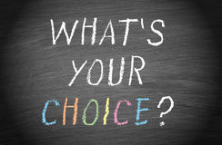 What's your choice ? Stock Images