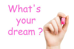 What's your dream, pink marker Stock Images