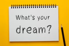 What`s your dream concept royalty free stock images