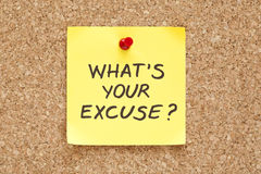 Free What S Your Excuse Stock Photo - 30186210